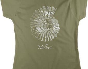 Mollusc Print, Shimmery Finish Women's T-shirt, NOFO_01064