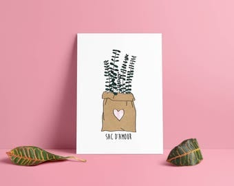 Bag of love • poster & card