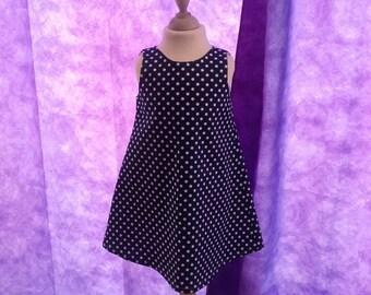Cotton pique trapeze dress, size 6 years