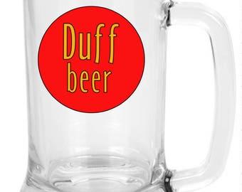 Duff Glass Beer Mug
