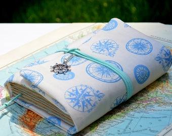 Compass journal Explore journal Travel journal Compass Sea journal Diary Writing journal Nautical journal Blank book Notebook Gift Book