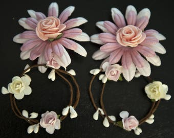 Sumptuous and lightweight floral earrings