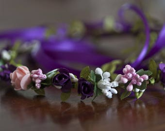 Crown of flowers and berries