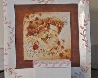 Handmade shabby chic style frame