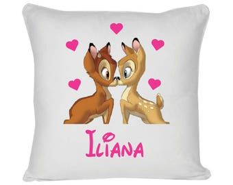 White cushion model Bambi and heart