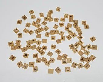 Vintage 1976 Scrabble- Complete Set of Wooden 100 Tiles
