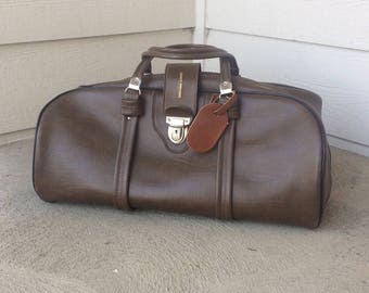 Duffel Bag Leather/Duffel Bag Men/Duffle Bag Leather/Duffle Bag/Duffel Bag/Travel Bag for Men/Leather Bag/Vintage Leather Bag/Saddle Brown