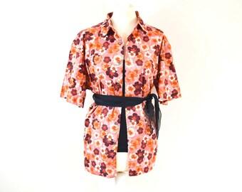 Vintage Oversized Shirt, Floral Shirt, Vintage Men's Shirt, Hawaiian Shirt, Autumn Style, Boho Grunge, 90s Fashion, Vintage Gift