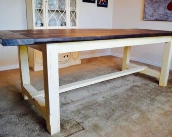 Farmhouse Table, Farm Table, Long Farmhouse Table, Rustic Table, Rustic,  Picnic