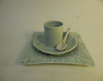 coffee cup,saucer,spoon & base