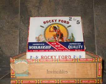 Vintage Rocky Ford Cigar Box Collectible