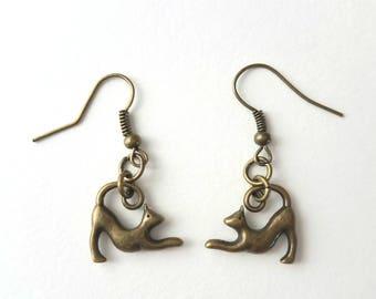 Yoga Kitty Cat earrings, Simple Cat Earrings,Cat lover gift,Yoga Earrings,Cat Jewelry,Friend Gift,Yoga Cat Jewelry, gifts for her