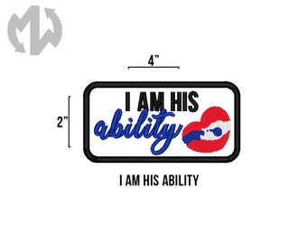 """HIS ABILITY 2"""" x 4"""" Service Dog Patch"""