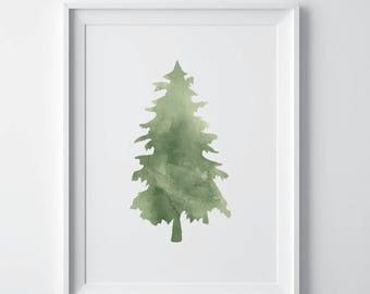 80% OFF Sale Tree print, palm tree print, tropical print, printable art, botanical download, Watercolour decor, forest print, printable art