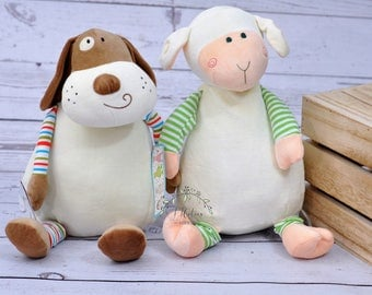 Personalized Cubbies Cubby Stuffed Animal-Personalized Birth Puppy Dog-Personalized Puppy-Birth Stat Personalized Sheep Stuffed Animal