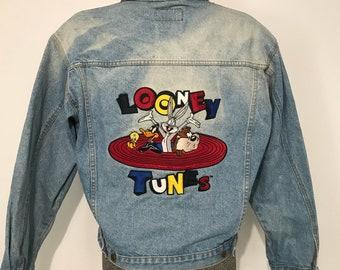 Vintage 1992 Looney Tunes Jean Jacket L