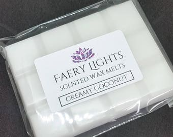 Wax Melts, Creamy Coconut, Scented Wax Melts, Scented Wax, Scented Melts, Wax Tarts, Home Fragrance, Suitable for any wax melter.