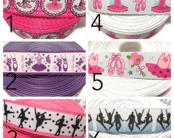 Ballerina Ribbon, Ballet Ribbon, Ballerina grosgrain Ribbon, Ballet Grosgrain Ribbon, Ballet Shoe Ribbon by the yard, Tutu Ribbon for Bows