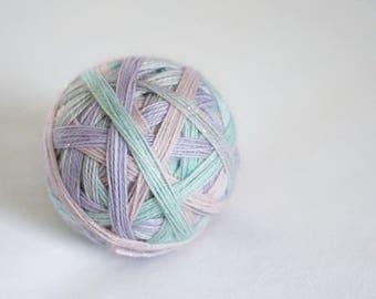 PRE-ORDER - Fairy Fountain - Self-Striping - Magpie - 75/20/5 superwash merino/ nylon / gold stellina sock yarn