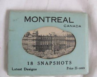 Montreal Canada 18 Snapshots / Vintage photos Montreal / Real photo postcards