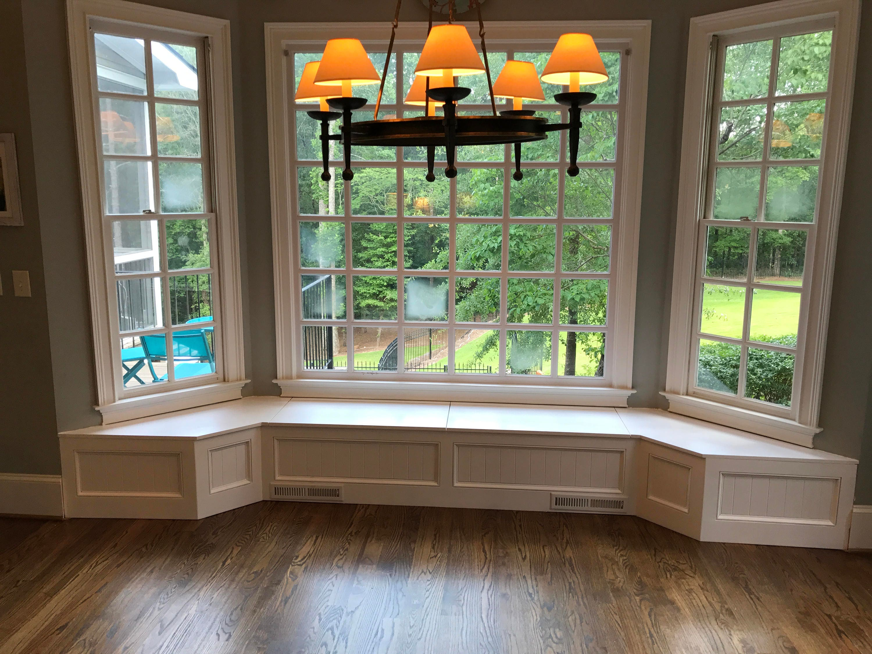 Banquette Bench For A Bay Window Kitchen Seating Shaped Bench - Bay window kitchen