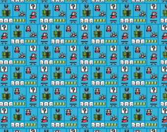 Nintendo Super Mario Gameboard Cotton Fabric from Springs Creative, Super Mario Brothers, Nintendo