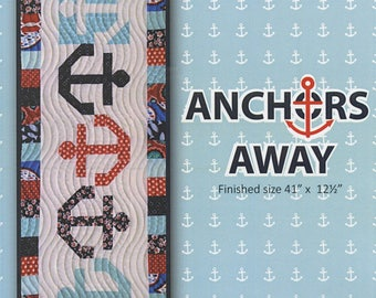 Anchors Away Table Runner Pattern  by Sandra Workman, Nautical Pattern