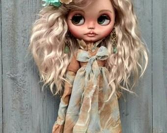 Blythe custom doll Arianda ooak doll collectible doll mohair weft custom Blythe Blythe custom ooak