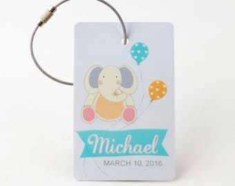 Personalized Diaper Bag Tag - FREE SHIPPING, Luggage Tag, Kid Luggage Tag, Baby Shower Gift, Gift Tag, Personalized Baby Gift, Child Gift,