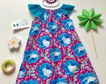 2- Flutter Sleeve Dress- pink floral