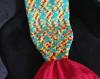 Mermaid tail blanket - child size