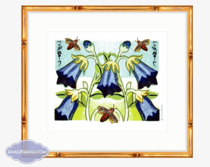 Harbel Flowers and Bees. Digital Downloadable collage by Liza Cowan.