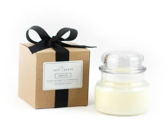 Dome Top Apothecary Glass Jar Soy Candle with Custom Gift Box