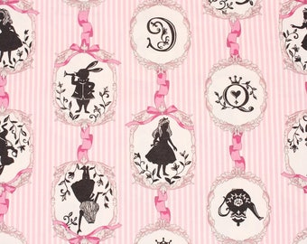 Alice in Wonderland Fabric made in Japan by the Half Yard 18inch x 43inch
