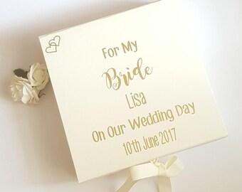 Bride Box, Bride Wedding Box, Gift for Bride, Brides Gift Box, Wedding Gift Box, Large Personalised Bride Box, The Bride Box