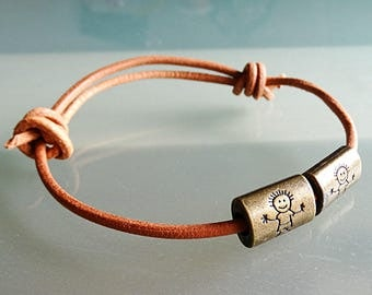 Gay couple jewelry gay men jewelry gay couple gift lgbt jewelry jewellery brown leather bracelet size S M L XL