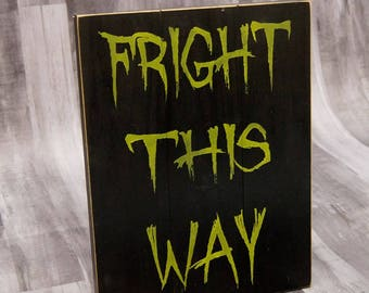 Spooky Halloween Decor | Halloween Decoration | Halloween Wall Art | Fall Decor | Fun Halloween Sign | Wooden Halloween Decor | Wooden Sign