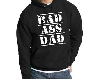 Bad Ass Dad Men's Pullover Hoodie