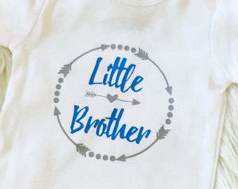 Baby boy little brother baby brother bodysuit onesie tshirt shirt