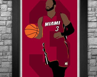DWYANE WADE minimalism style limited edition art print. Choose from 3 sizes!
