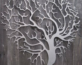 Metal Wall Art Decor 3D Sculpture Tree Of Life Love