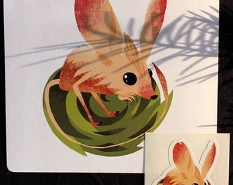 Jerboa - Art print + sticker