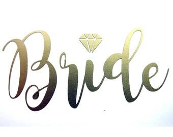 Bride iron on decal,heat transfer vinyl.