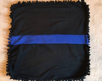 Thin Blue Line Fleece Baby Blanket