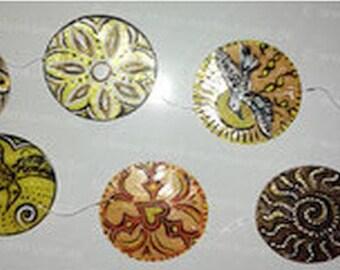 Shaman wind chime, 7 shells--wind chimes Mobile 7 Capiz shells