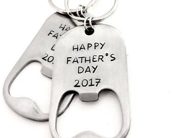 Father's Day bottle opener keychain