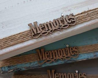 Memories Wood Block Picture Frame