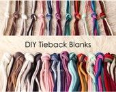 Tieback Blanks - DIY Tiebacks - Newborn Tiebacks - Tieback Set - Jersey Tiebacks - Grab Bag - Photo Props - DIY Headbands - Headband Blanks