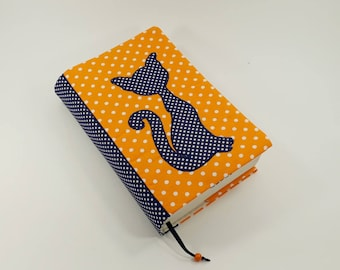 Adjustable book cover, Fabric book cover, Reusable book cover, Handmade book case, Paperback book cover