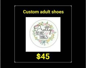 Custom adult shoes